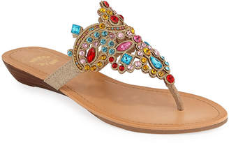 a1cb9fc02 Premium Collection By Yellow Box Amee Crystal-Embellished Thong Sandals