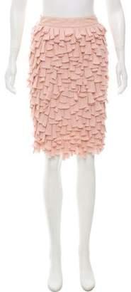 Anna Molinari Knee-Length Tiered Skirt