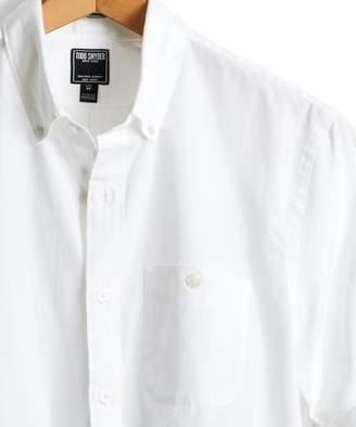 Todd Snyder Slim Fit Poplin Button Down Shirt in White