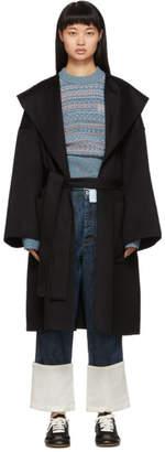 Loewe Black Hooded Coat