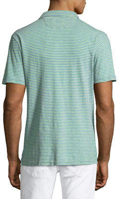 Faherty Men's Striped Jersey Polo Shirt