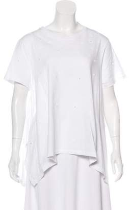 Opening Ceremony Perforated Short Sleeve Top