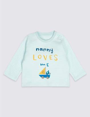 Marks and Spencer Nanny Loves Me Pure Cotton Striped Top