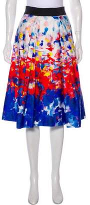 Milly Printed Midi Skirt