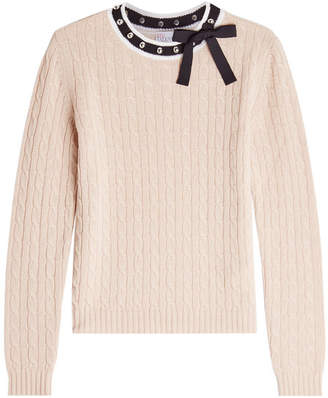 RED Valentino Wool Pullover with Embellishment