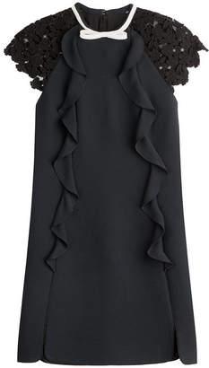 Giambattista Valli Dress with Ruffles and Lace Sleeves