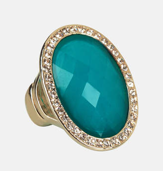 Avenue Diamond Trimed Teal Stretch Ring