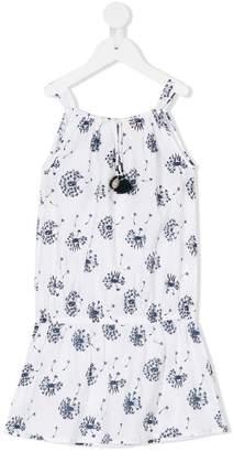 Sunuva dandelion print drop waist dress