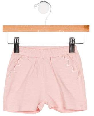 Emile et Ida Girls' Scalloped Mélange Shorts w/ Tags
