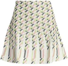M Missoni Pleated Jacquard Mini Skirt