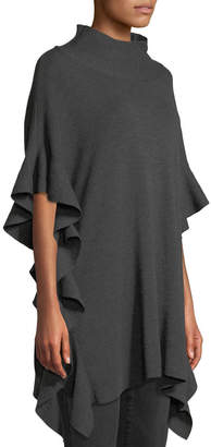 Elie Tahari Lucy Wool Poncho Sweater