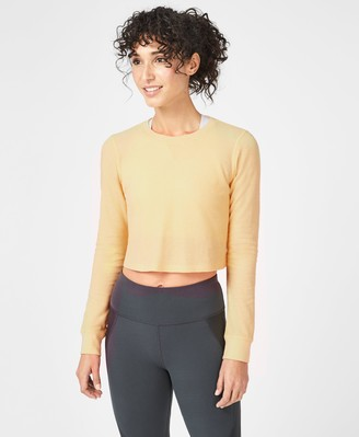 Sweaty Betty Waffle Crop Long Sleeve Top