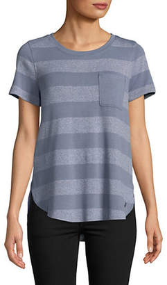 Calvin Klein Rounded Hem Striped T-Shirt