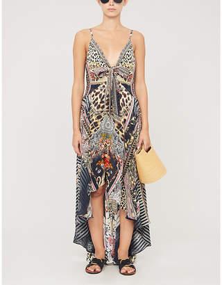 Camilla Marais At Midnight Silk-Crepe Maxi Dress