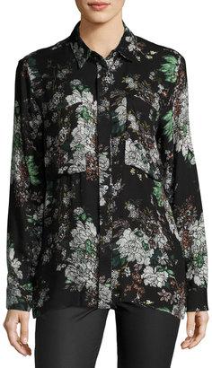 Knot Sisters Shanghai Floral-Print Shirt, Black Pattern $69 thestylecure.com