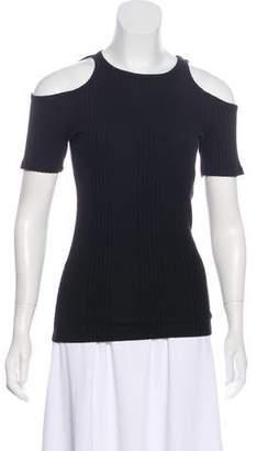 Frame Rib Knit Short Sleeve Top