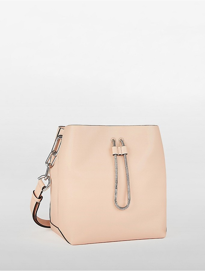 Calvin Klein Platinum Enveloped Bucket Bag