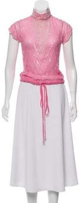 Temperley London Silk Embellished Top
