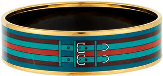 Hermes Estate Wide Belted-Enamel Bangle