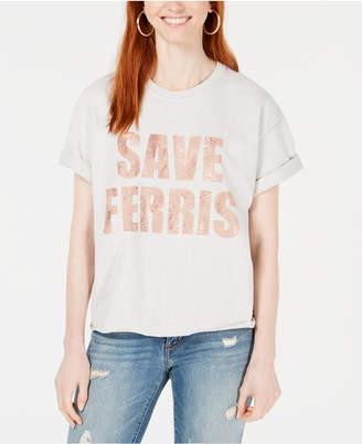 True Vintage Cotton Save Ferris Cropped Graphic T-Shirt