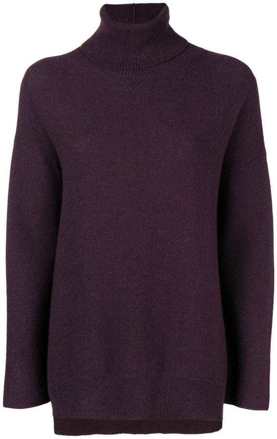 Fabiana Filippi draped turtle-neck sweater
