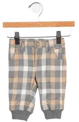 Il Gufo Boys' Checker Print Pants