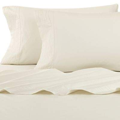 Canyon Shoreline King Fitted Sheet in Ivory