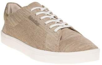 Calvin Klein New Womens Metallic Taupe Ilene 2 Textile Trainers Sports Luxe Lace