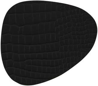 Croco LIND DNA Curve Table Mat - Black - Large