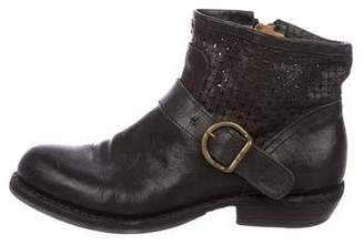 Fiorentini+Baker Perforated Round-Toe Ankle Boots