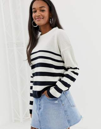 Brave Soul daffy stripe sweater