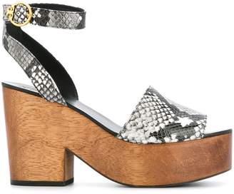 Tory Burch snake-effect platform sandals