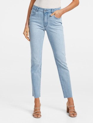 Forever New Ruby Mid-Rise Straight Jeans - L.A BLUE - 4