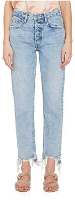 GRLFRND Denim Helena Hi-Rise Chewed Hem Jeans