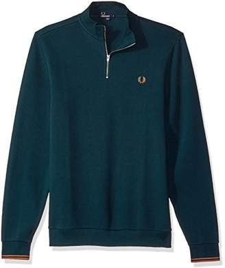Fred Perry Men's Zip Neck Pique Long Sleeve Shirt