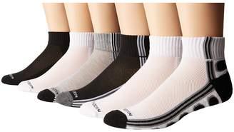 Steve Madden 6-Pack Athletic Quarter Socks Men's Quarter Length Socks Shoes