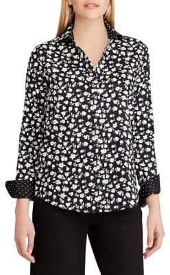 Chaps Floral Cotton Button-Down Shirt