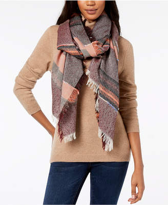 Steve Madden Sparkle Striped Travel Wrap & Scarf