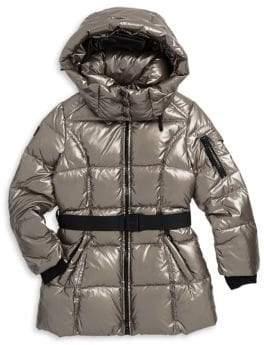 SAM. Girl's Soho Belted Down Puffer Coat