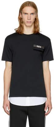 Neil Barrett Black and White Gang Badge T-Shirt