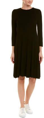 Three Dots Ribbed T-Shirt Dress