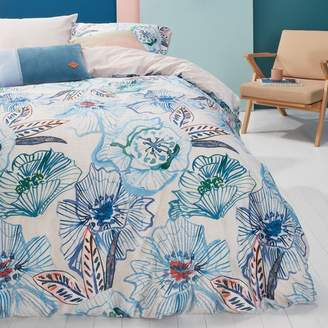 Oilily Blue Green Rose Dust Cotton Sateen Quilt Cover Set