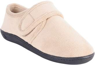 Isotoner Microterry Espadrille Slippers with Grip-Tape Strap