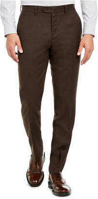 Bar III Men Slim-Fit Brown Textured Suit Separate Pants