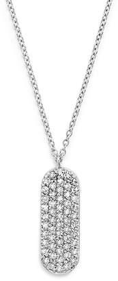 """KC Designs 14K White Gold Diamond Oval Necklace, 16"""""""
