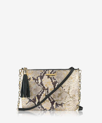 GiGi New York Chelsea Crossbody, Gold Wash Embossed Python