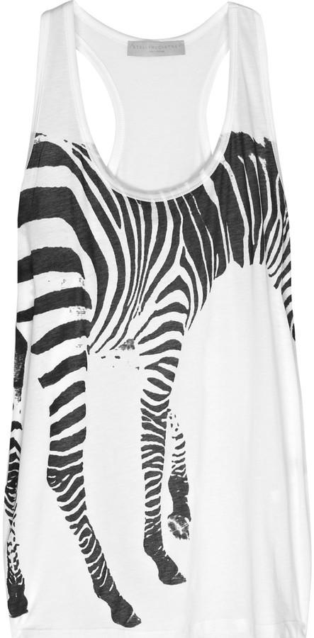 Stella McCartney Zebra-print cotton tank
