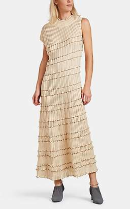 Jil Sander Women's Rib-Knit Asymmetric Maxi Dress - Beige, Tan