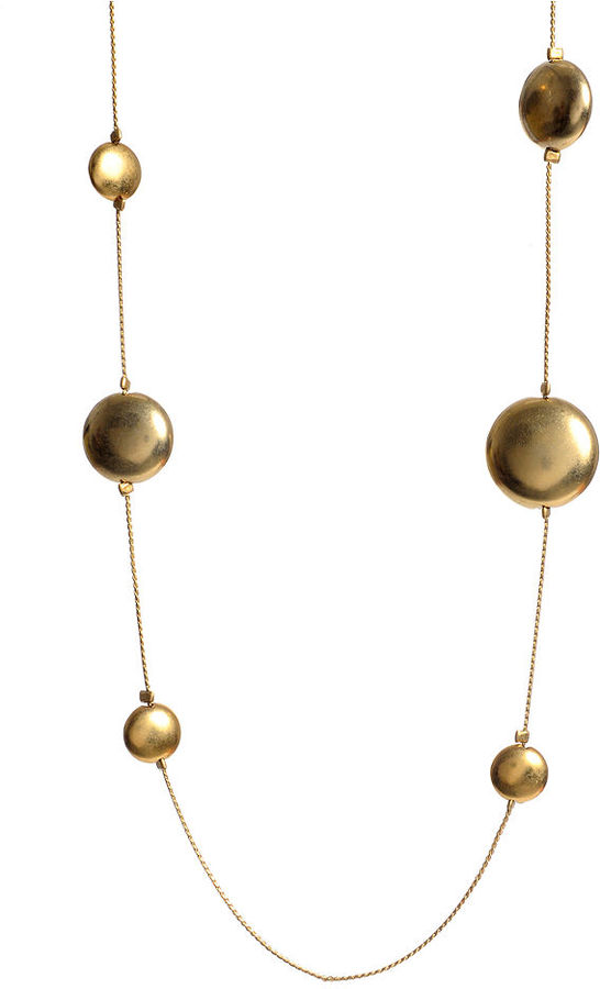 Kenneth Cole New York Necklace, Gold-Tone Circle Bead