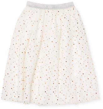 Billieblush Little Girl's Polka-Dot Flare Skirt